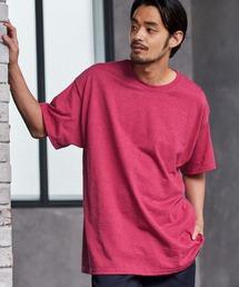 ギルダン ビッグシルエット USAオーバーサイズ 1/2スリーブTシャツ 無地T トップス Tシャツピンク系その他2