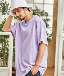 ギルダン ビッグシルエット USAオーバーサイズ 1/2スリーブTシャツ 無地T トップス Tシャツピンク系その他3