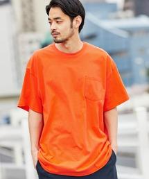 ギルダン ビッグシルエット USAオーバーサイズ 1/2スリーブTシャツオレンジ系その他2