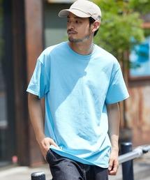 ギルダン ビッグシルエット USAオーバーサイズ 1/2スリーブTシャツ 無地T トップス Tシャツスカイブルー
