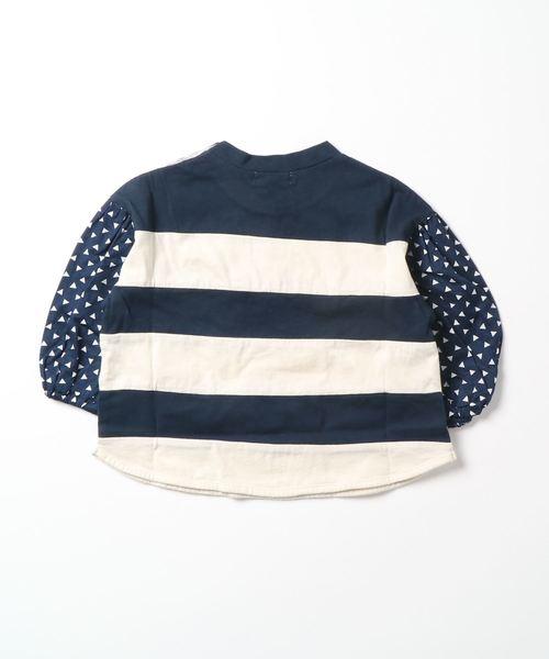 パフスリーブ7分袖プルオーバーTシャツ