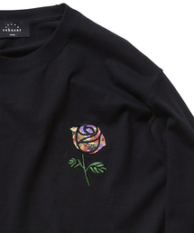 rehacer(レアセル)のrehacer STAND : Flower Rose L/S T / フラワーローズ ロングスリーブ Tシャツ(Tシャツ/カットソー)
