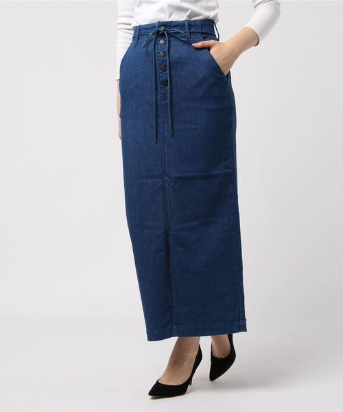 Sデニムロングタイトスカート