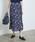 ROPE' PICNIC(ロペピクニック)の「フラワーランダムヘムプリーツスカート(スカート)」|ネイビー