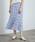 ROPE' PICNIC(ロペピクニック)の「フラワーランダムヘムプリーツスカート(スカート)」|サックスブルー
