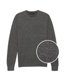 BANANA REPUBLIC(バナナリパブリック)のスーピマコットン クルーネックセーター(ニット/セーター)