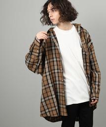 JUNRed(ジュンレッド)のブリティッシュタータンチェックモンスタービッグシャツ(シャツ/ブラウス)
