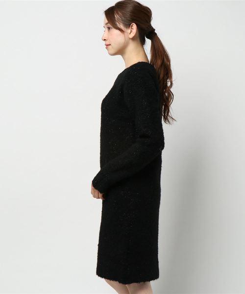 GLITTER YARN KNIT DRESS