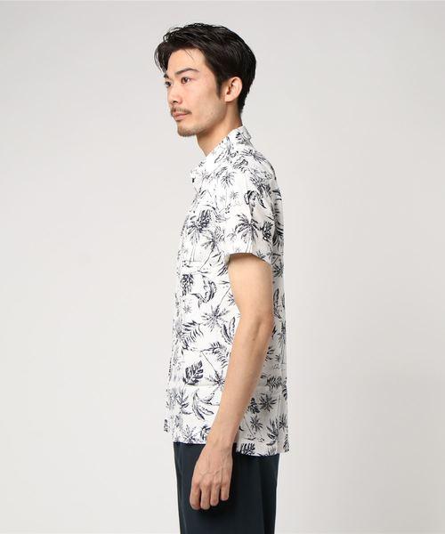 【CUSTOM CULTURE】 ショートスリーブシャツ ボタニカルプリント