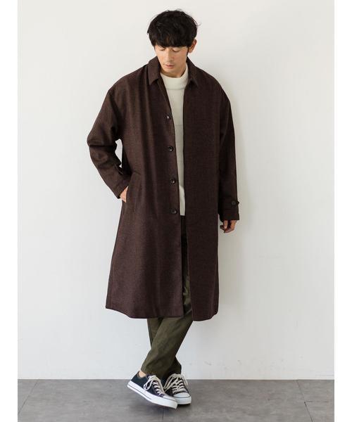 ・エシカル クルーネック編み変化プルオーバー