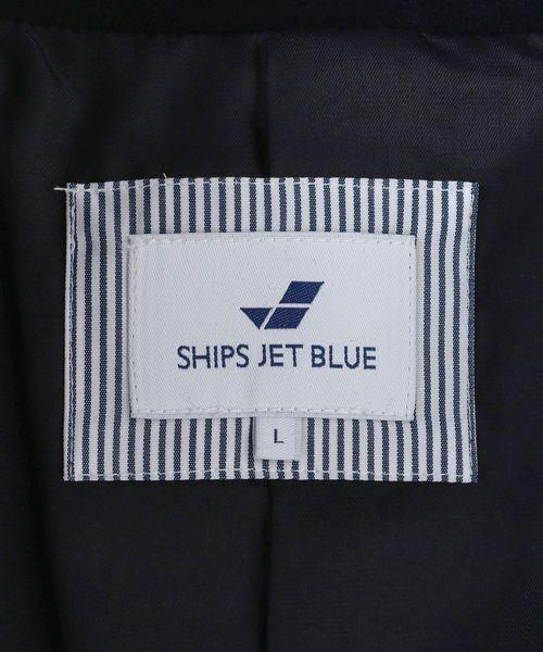 SHIPS JET BLUE: メルトンシングルPコート3