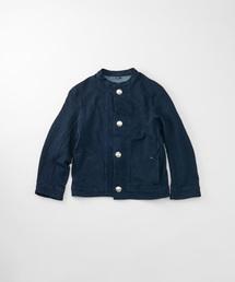 45R(フォーティファイブ・アール)のガーゼ裏毛のジャケット(インディゴ)(カーディガン)
