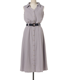 REDYAZEL(レディアゼル)のシャツ襟プリーツワンピース(ワンピース)