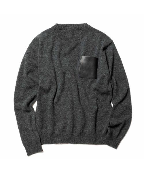 激安価格の LEATHER POCKET CREW NECK KNIT(ニット/セーター) POCKET|SOPHNET.(ソフネット)のファッション通販, アメリカンツールズ:31b4dd1d --- apiceconstrutora.com.br