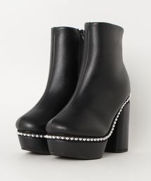 Mafmof(マフモフ)のMafmof(マフモフ) BLACKボールチェーンラインのショートブーツ(ブーツ)