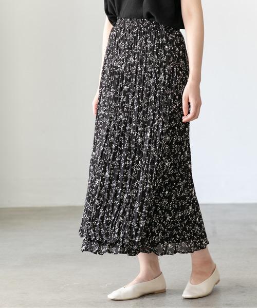 LEPSIM(レプシィム)の「アシメケシプリーツスカート 885222(スカート)」|ブラック系その他