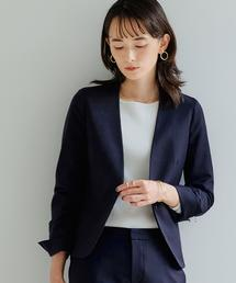 【WORK TRIP OUTFITS】◆WTO D TW/PU ノーラペル ジャケット/ ノーカラー