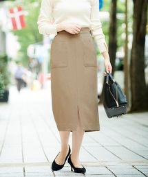 le.coeur blanc(ルクールブラン)のポケットツキイージータイトスカート(スカート)