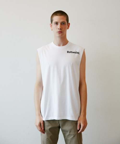 ROTTWEILER(ロットワイラー)の「R・W Cutoff Tee(Tシャツ/カットソー)」 ホワイト