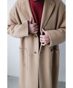 クラネ オム CLANE HOMME / オーバーサイズ チェスターコート OVER SIZE CHESTER COAT