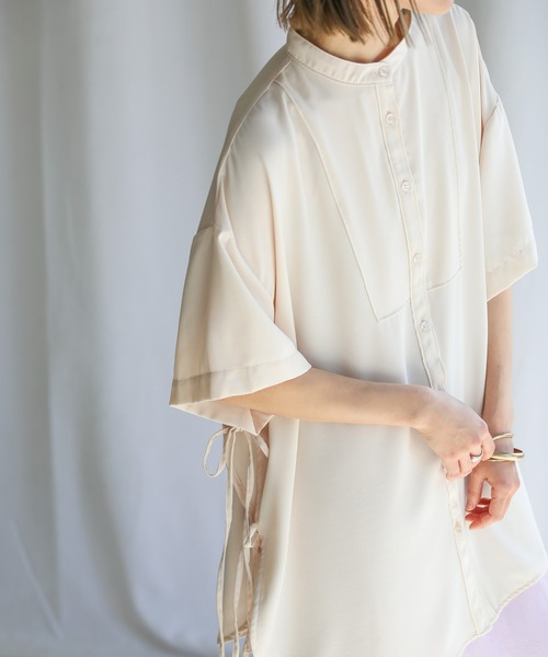 select MOCA(セレクトモカ)の「2021 SS サイドリボンスリーピングシャツ(シャツ/ブラウス)」|アイボリー