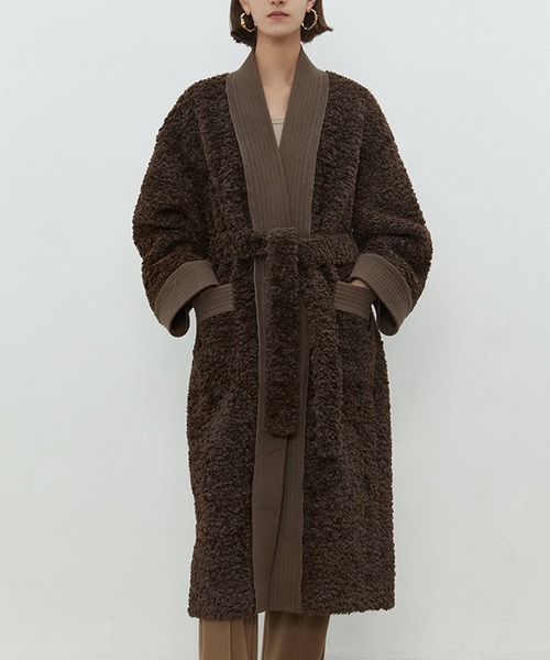 【UNSPOKEN】Boa gown coat chw1450