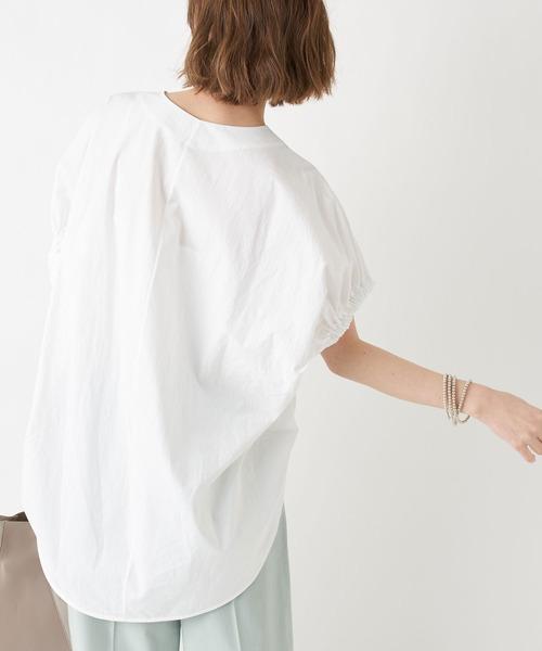 RIVE DROITE(リヴドロワ)の「異素材バックボリュームカットソー(Tシャツ/カットソー)」 オフホワイト