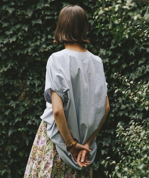 RIVE DROITE(リヴドロワ)の「異素材バックボリュームカットソー(Tシャツ/カットソー)」 詳細画像