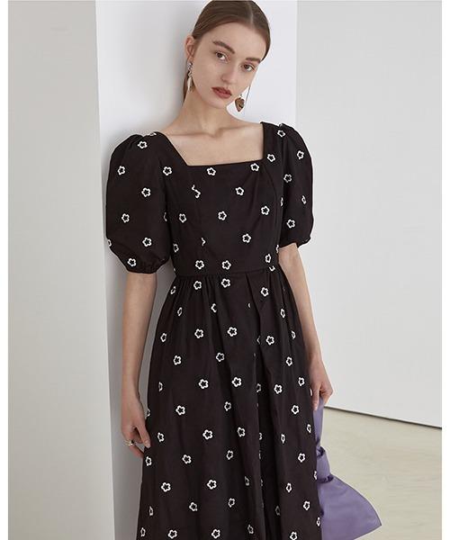 【Fano Studios】【2021SS】Embroidery flowers sweet dress FC21L029