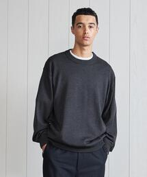 <H>SOLID WOOL CREW NECK PULLOVER/ニット
