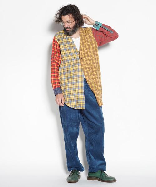 【オンライン限定商品】 Collarless Long Nel Long Shirt Shirt// カラーレスネルロングシャツ(シャツ/ブラウス) ALDIES(アールディーズ)のファッション通販, 生活改善委員会:6cf0884e --- blog.buypower.ng