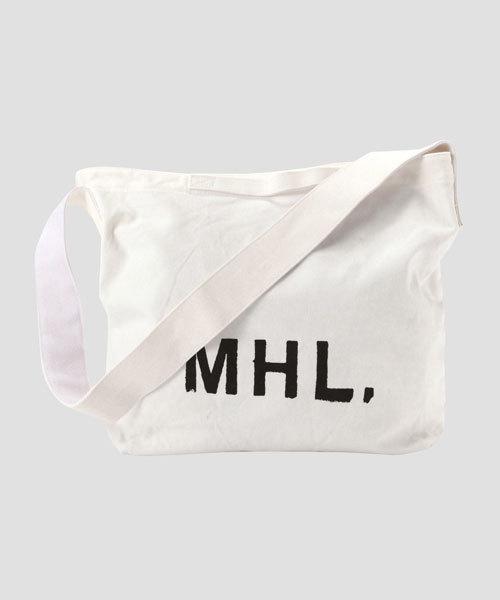 MHL.(エムエイチエル)の「HEAVY COTTON CANVAS(ショルダーバッグ)」|ホワイト