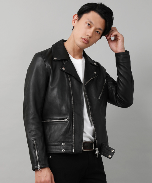 【タイムセール!】 【セール Leather】Lamb Riders Leather Double Double Riders Jacket(ライダースジャケット) HARLEM ROUNGE(ハーレムラウンジ)のファッション通販, 若松区:e3016b78 --- skoda-tmn.ru