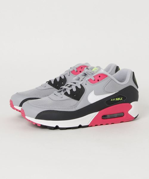 new concept e802b 7c63d NIKE AIR MAX 90 ESSENTIAL (WOLF GREY/WHITE-RUSH PINK-VOLT)【SP】