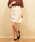 Emsexcite(エムズエキサイト)の「シャーリング台形スカート(スカート)」|オフホワイト