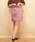 Emsexcite(エムズエキサイト)の「シャーリング台形スカート(スカート)」|ダークパープル