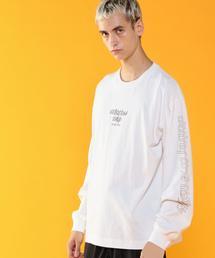 ビッグシルエットロングスリーブプリントTシャツ(UTILITY LINE)