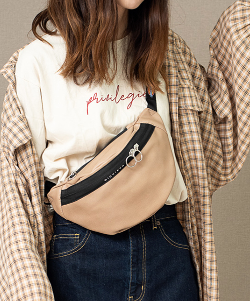 Dickies【ディッキーズ】DK SYNTHETIC LETHER WAIST BAG / 合皮ウエストバッグ ボディバッグ