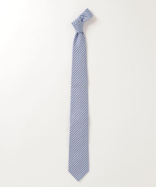 LUIGI BORRELLI / ストライプ柄ウール混ネクタイ