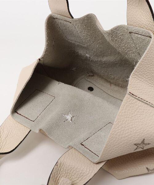 NUR(ヌール)の「【NUR/ヌール】星柄刺繍 ミニ トート ハンド バッグ(トートバッグ)」|詳細画像