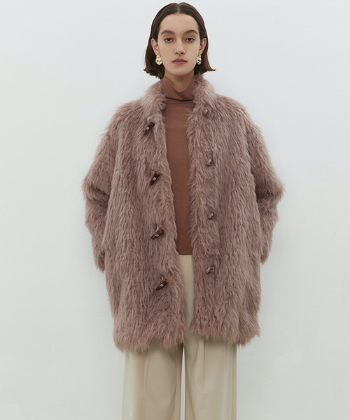 【UNSPOKEN】Shaggy fur coat chw1451
