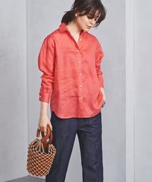 ○UBCB リネン レギュラーカラーシャツ 18SS ◆