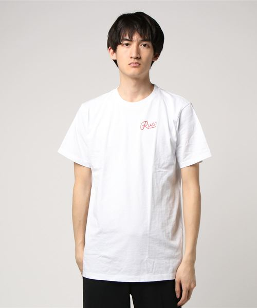RVCA(ルーカ)の「RVCA メンズ GRASS HULA Tシャツ(Tシャツ/カットソー)」|オフホワイト