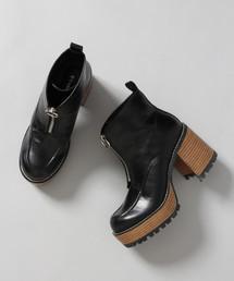 JEANASIS(ジーナシス)のジップデザインヒールブーツ/814892(ブーツ)