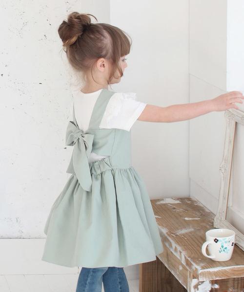 Rora チェルシー エプロン ドレス(2color)