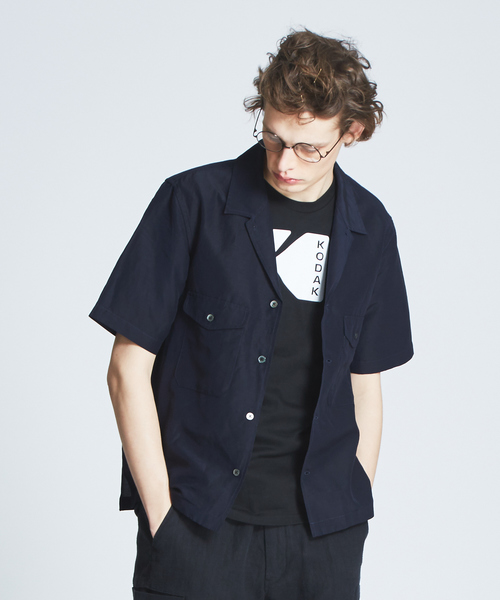ハイツイストCU/LI オープンカラーシャツ