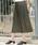 LEPSIM(レプシィム)の「【LEPSIM×鏡リュウジコラボアイテム】19AWフィラメントスカート 845458(スカート)」|カーキ
