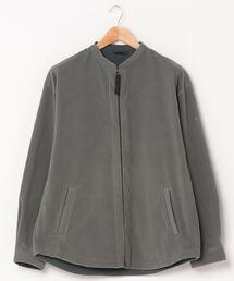 WILDTHINGS / ワイルドシングス ポーラテックバンドカラーシャツ POLERTEC BAND COLLAR SHIRT WT21138Nグレー