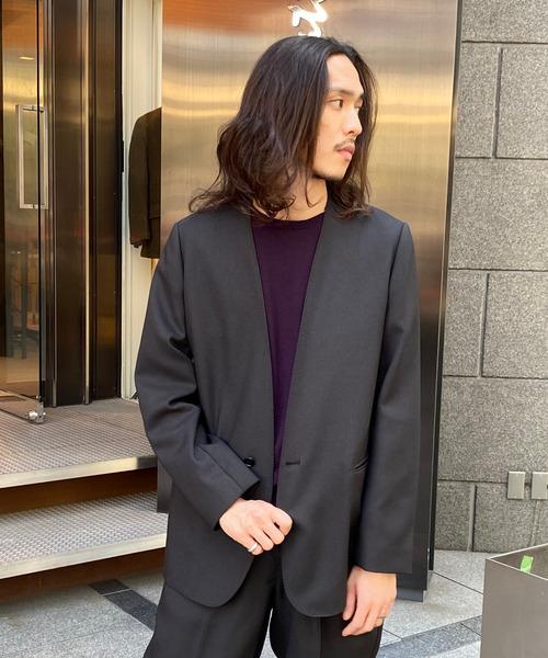INVERT / フェイクツイード カラーレスジャケット
