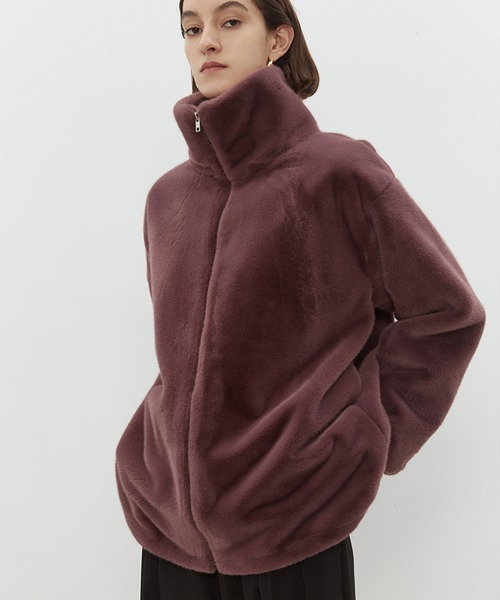【UNSPOKEN】High neck fleece jacket chw1452